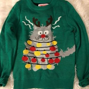 Tipsy Elves Christmas Cat Holiday Sweater